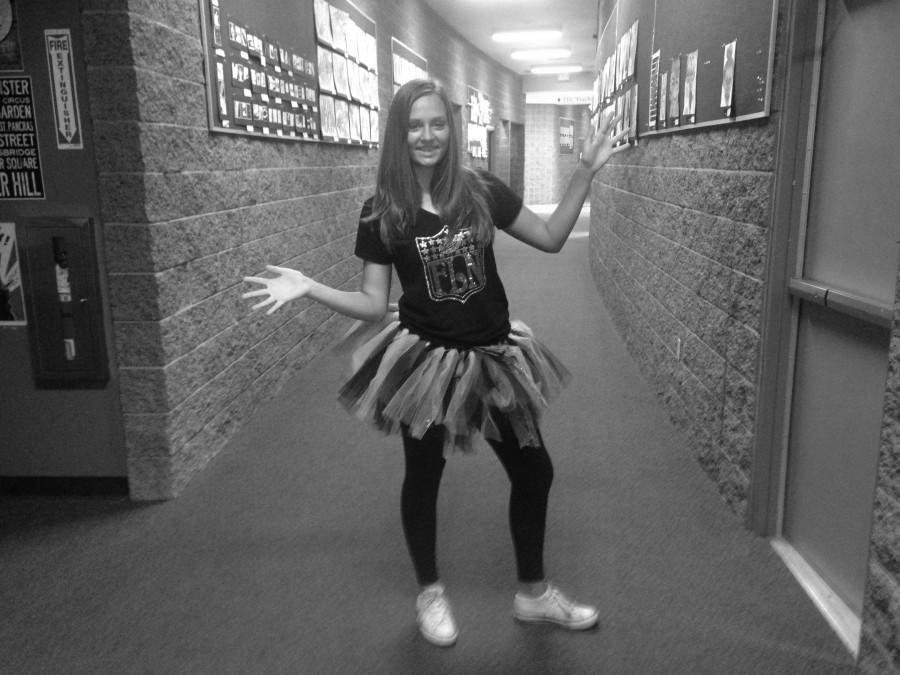 8th grade student Alexis Petculescu showing off her Faith Lutheran spirit for homecoming week.