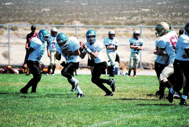 Faiths A team playing against the Pahrump Valley Sharks, winning in a close game. Pahrump was a critical part of the season.