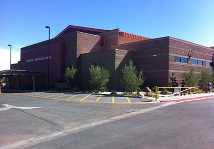 Photo of new gym and weight room. The new gym is called the Crusader Competition Center.