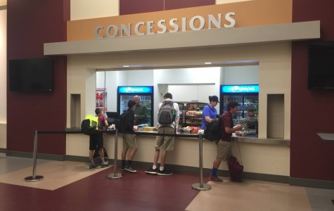 Students enjoying their after schoool snacks at the Snack Shack. The snack shack sells many foods that students would put at the sides of their lunches.