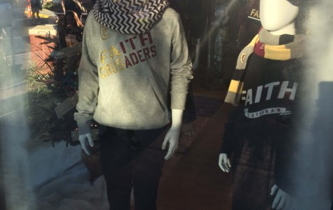 The Shield displays the sweatpants in the window for all to see. Along with the sweatpants, they show hats, sweatpants and scarves.