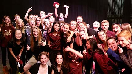 On January 26, Faith held its annual Lip Sync in the CPAC. At the end of the show, the eighth grade participants posed for a picture after their win.