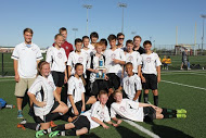 The seventh and eighth graders of last years A team display their trophy after a huge win, which won them the league championship. This year, tryouts will take place March16-18.
