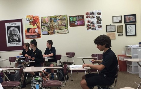 Students in Miss Krafft's Applied class prepare for one of their upcoming Chapels. The students work hard to prepare for the Good Friday Chapel, so that everyone understands what Jesus did for them.