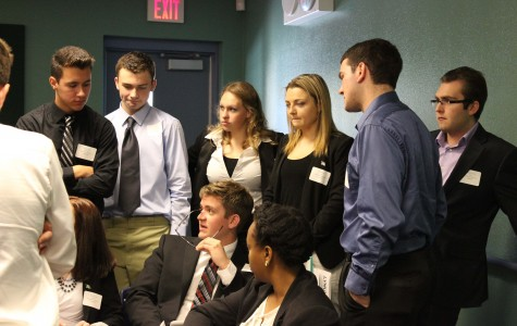 High school Model United Nations club revises their speeches and reviews their topics before taking part in a Las Vegas MUN conference. Ryan Watts encourages middle school students to participate to exceede with social issues and the quest to find a solution.