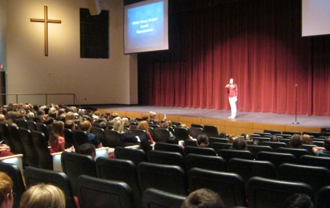 Future Crusader Day allowed prospective students to watch different presentations from the different progrmas at Faith Lutheran.They listened to a performance from student council Executive Officer, Isabella Nigro.