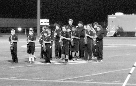 Faith Lutheran middle school marching band excites the crowd during halftime