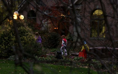 Trick-or-treaters on Halloween, having fun with their friends. They hope they can trick-or-treat forever, but sadly once they are middle school there parents will tell them they are too old.