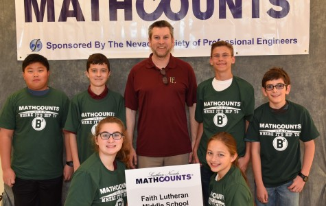 Members of the Math Counts team pose for a picture after their Chapter Competition.