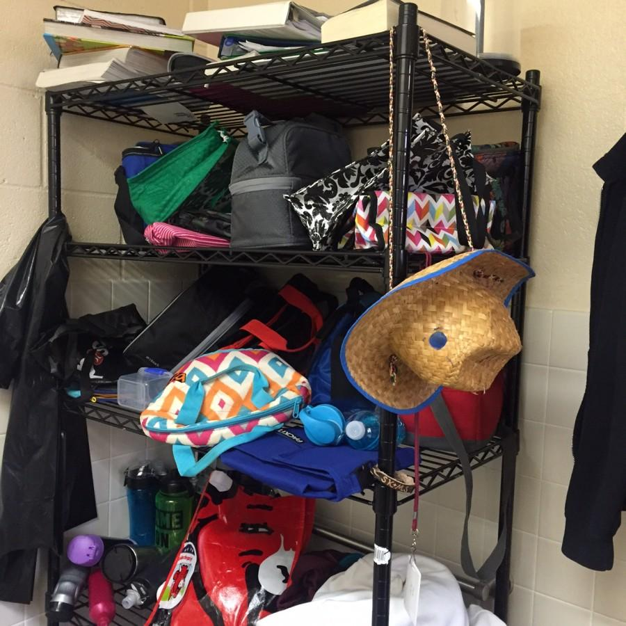 The lost and found is overflowing with lunch boxes, hats, water bottles, and more. Items that are not claimed before a certain date will be sent to the Faith Lutheran Thrift Store.