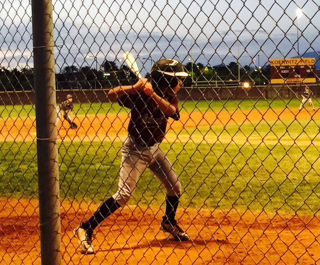 The middle school B team played Adelson for their first game and won 8-7. The two middle school baseball teams work hard during games and practices and will hopefully end up in first place at the end of the season.
