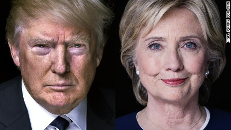 In this photo Hillary Clinton and Donald Trump are facing off just  as they will be facing off on November 8, 2016 for the general election.  Sudents are particularly getting intyerested in the election cycle against Hillary and Trump, due to the impact it has on the students futre and the nation's future.
