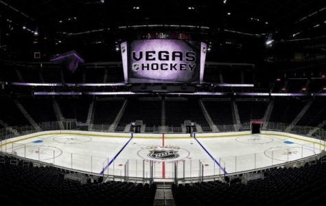 This is a picture of the Las Vegas T Mobile ice area, where the Veags Golden Knights are going to have their hockey games.