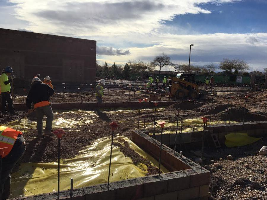Construction+workers+perform+daily+tasks+to+construct+the+new+classrooms+at+Faith+Lutheran.+The+classrooms+are+located+just+off+of+Homestretch%2C+next+to+the+locker+area.